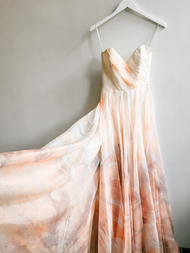 Rose Coloured The Amelia Gown - Hand Dyed Wedding Gown