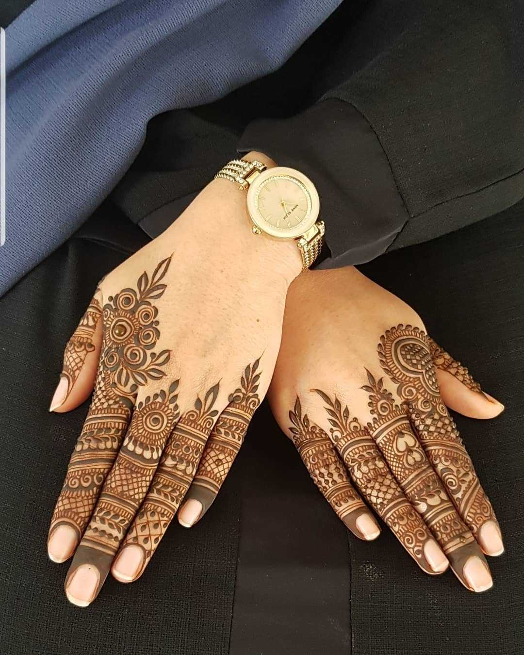 Simple Henna Design For Rakshabandhan