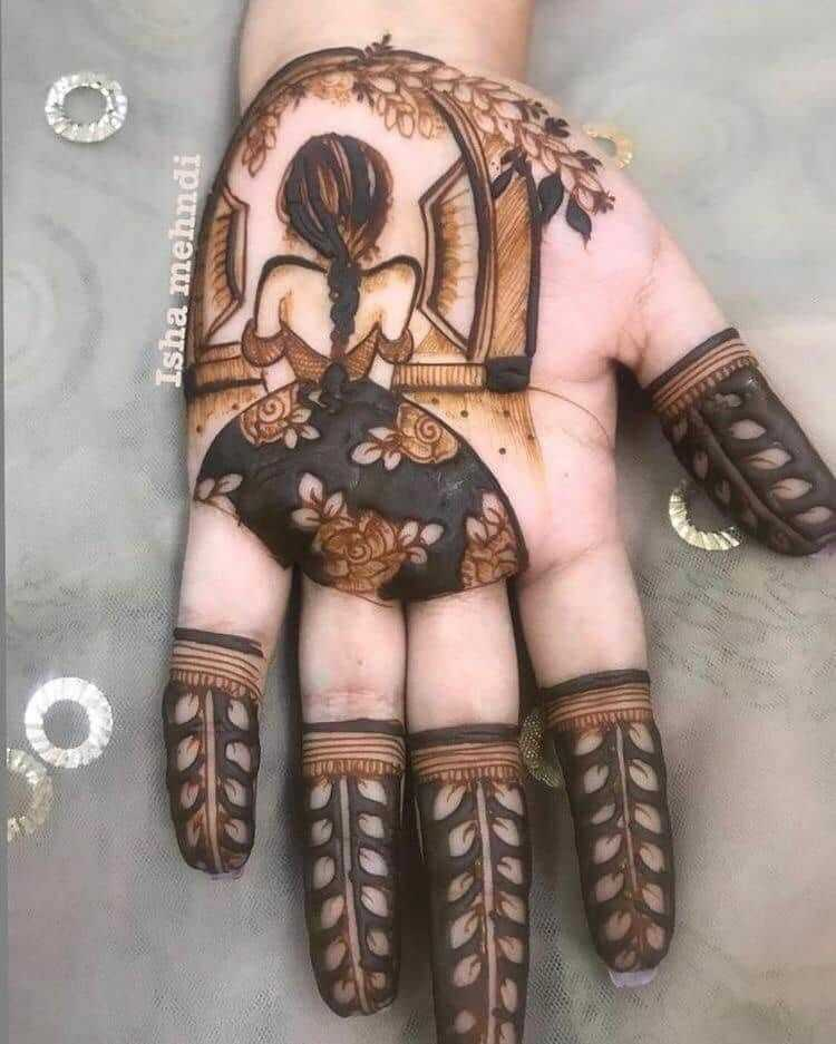 Simple Mehndi Design For Rakshabandhan 2019