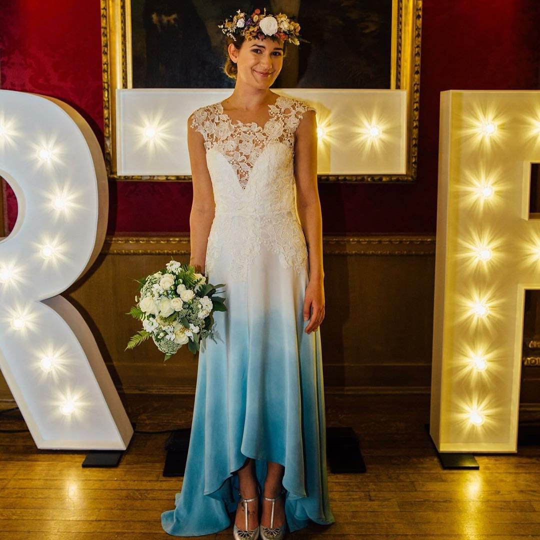 The Lola Gown - Blue Wedding Dress For Beach Wedding