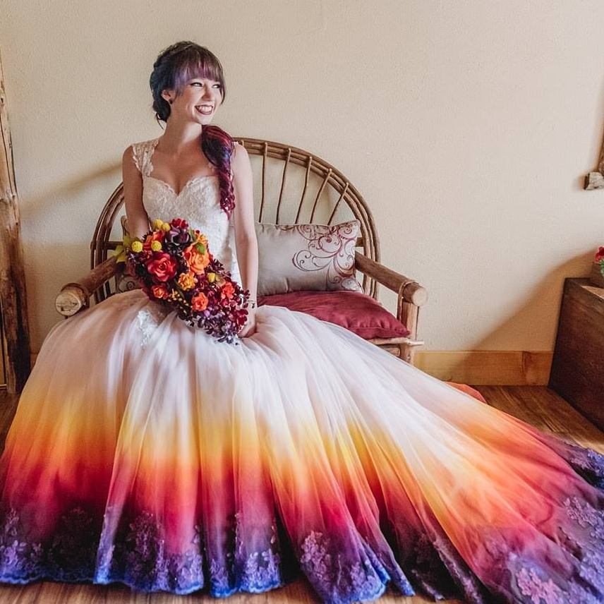 The Sunset & The Night Skies - Dip Dyed Wedding Dress Taylor Ann