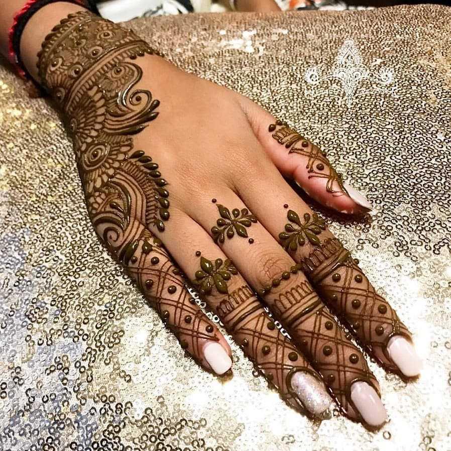 mehndi designs for teej back hand
