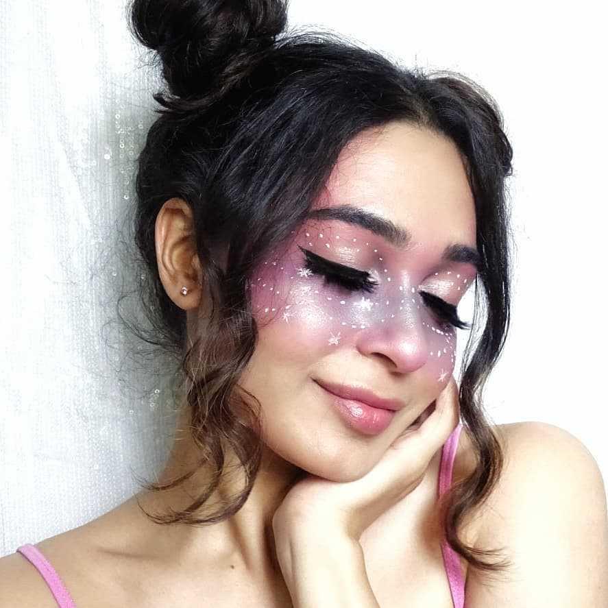 Galaxy Halloween Makeup Look