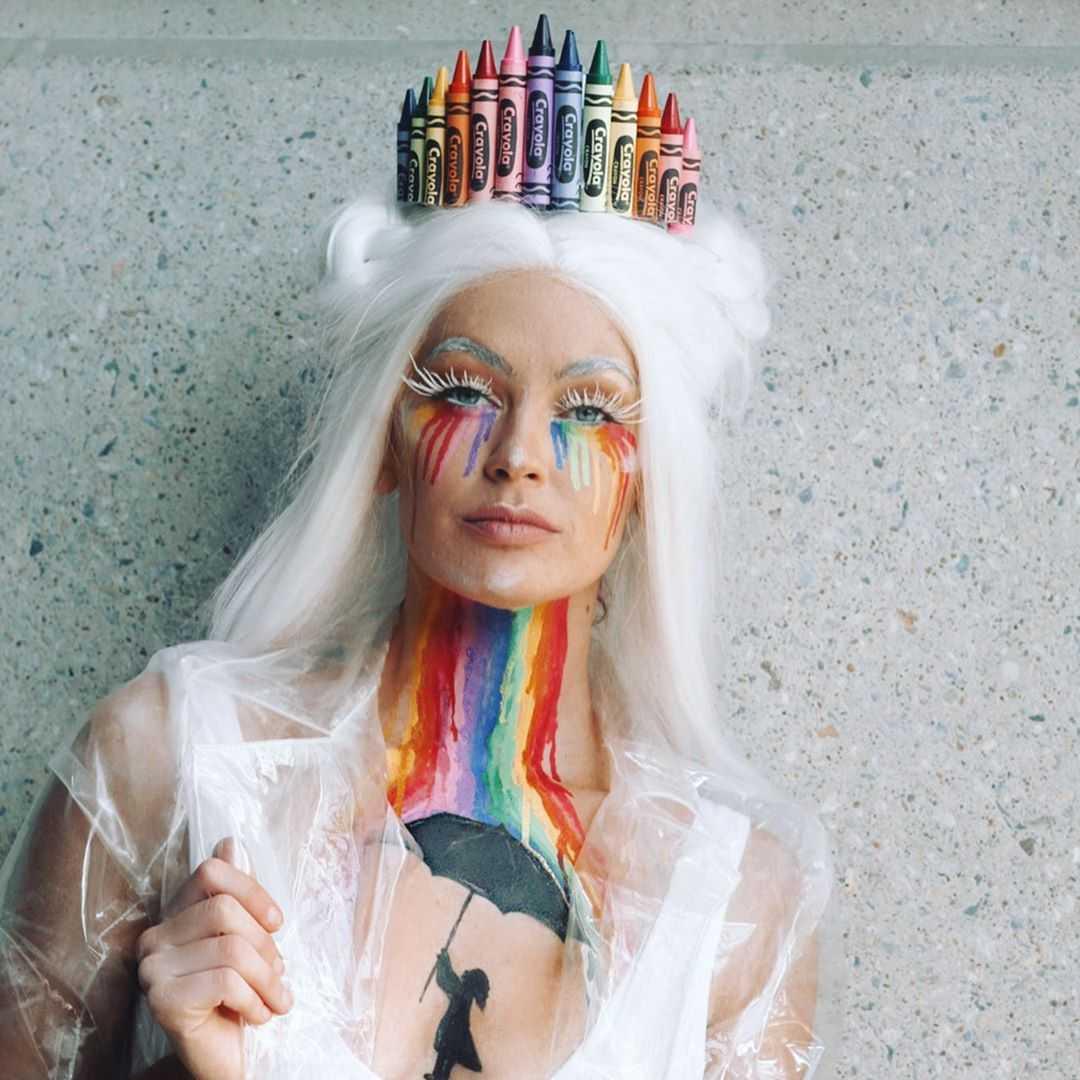 The Queen Of Colours Makeup Look