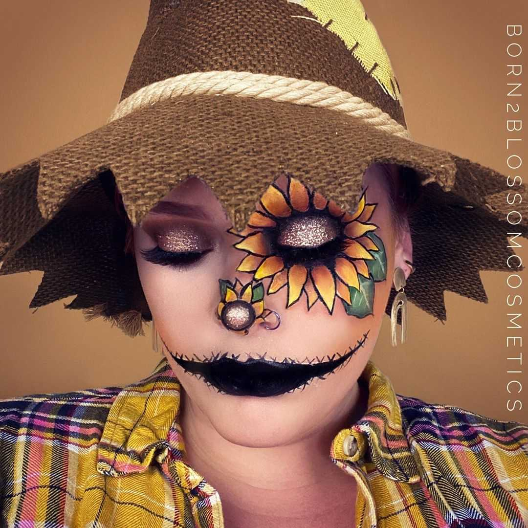 The Sunflower Scarecrow Makeup Look
