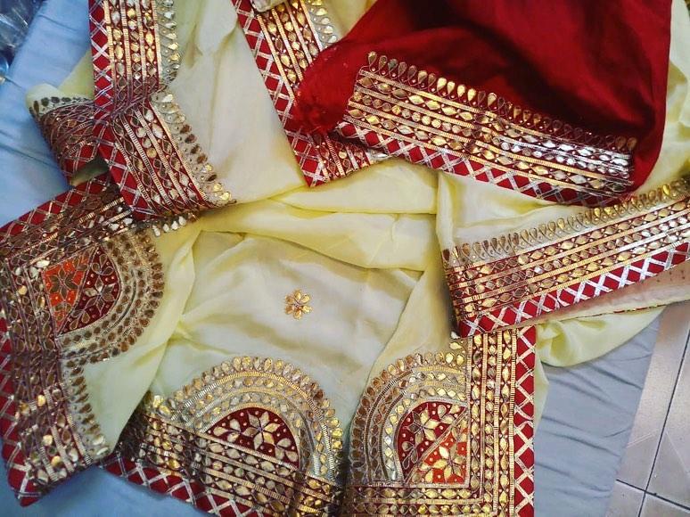 Rajasthani Gota patti saree Anchi Jaipur