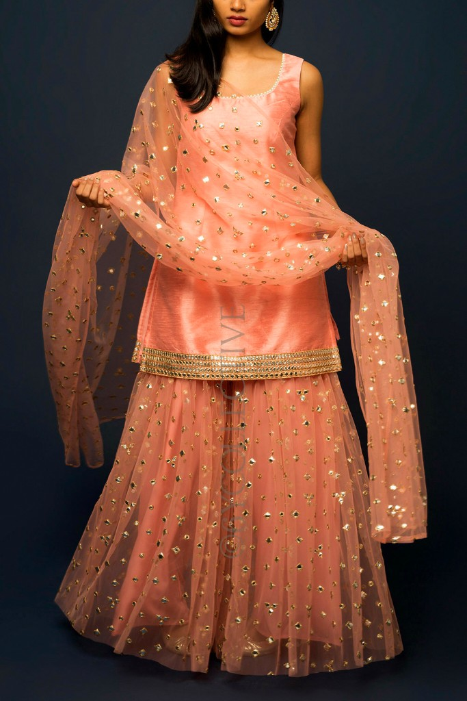 6Y Collective Sharara Set - Outfit Ideas For Karwachauth