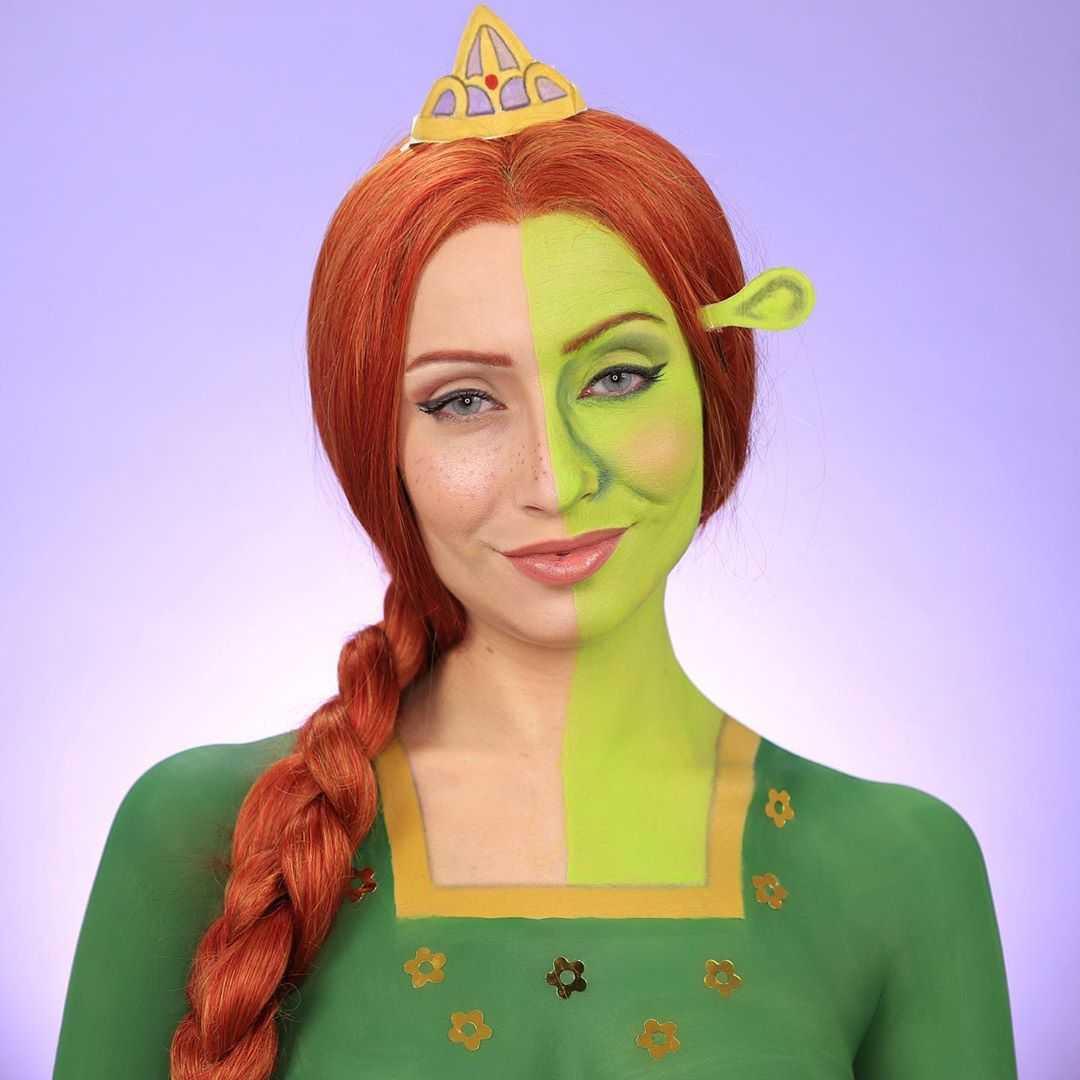 Princess Fiona Makeup Look