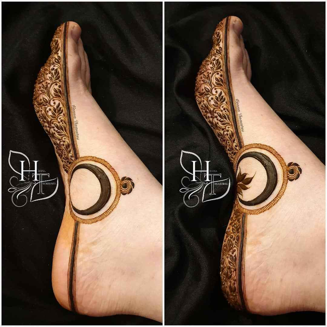 Feet Mehndi Designs For Karwa Chauth