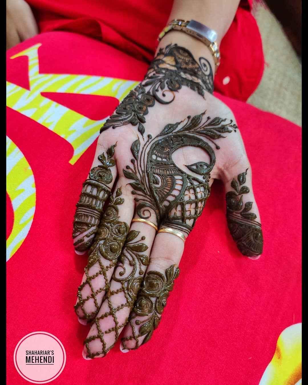 Palm Mehndi Designs For Karwa Chauth
