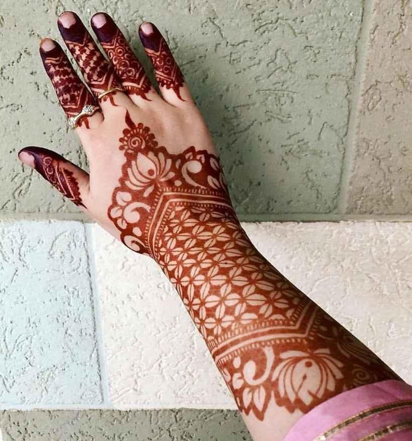 Back Of The Hand New Karwa Chauth Mehndi Designs