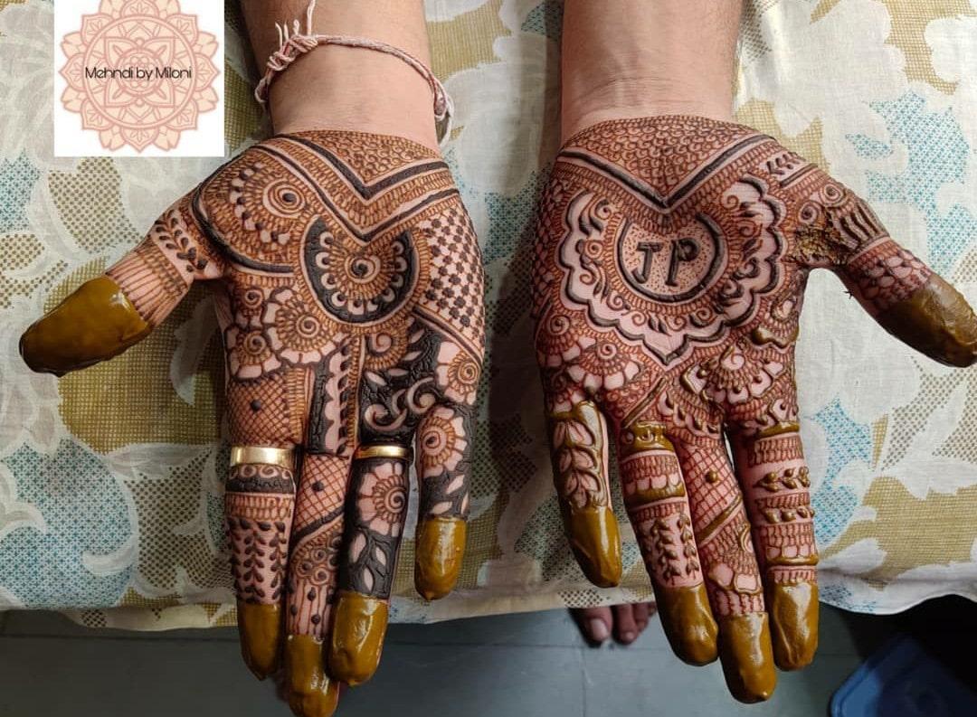 bride groom mehndi designs for wedding