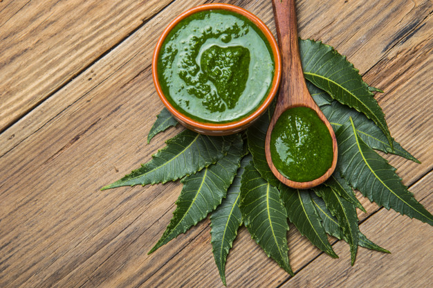 Neem Leaves Paste For Acne