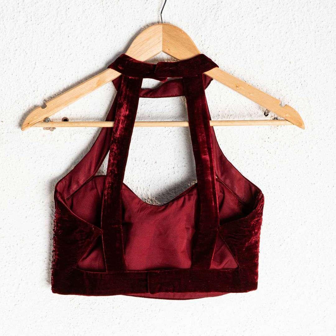 Velvet & Sequins Blouse Design