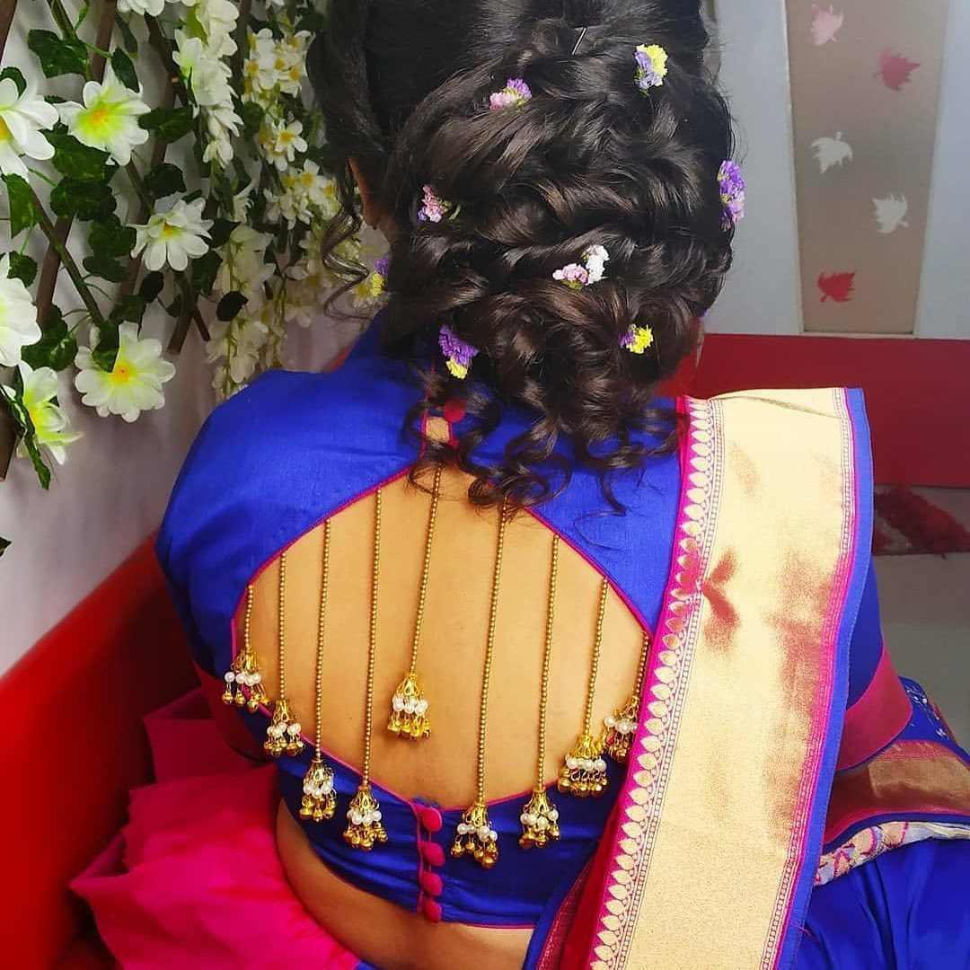 Jhumka Back Detailing Blouse