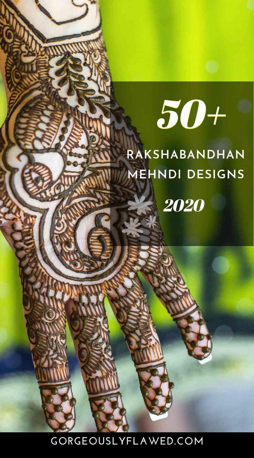 50+ Rakshabandhan Mehndi Designs 2020 - Latest Rakhi Mehndi Images