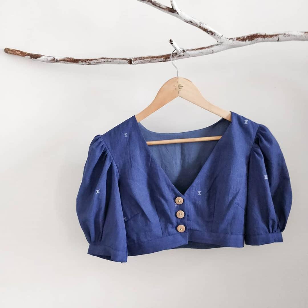 Crop-Shirt Blouse Design