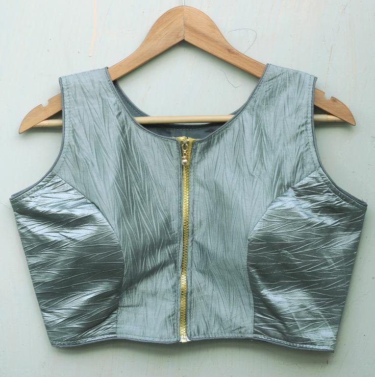 Mandarin Collar Blouse Design For Front
