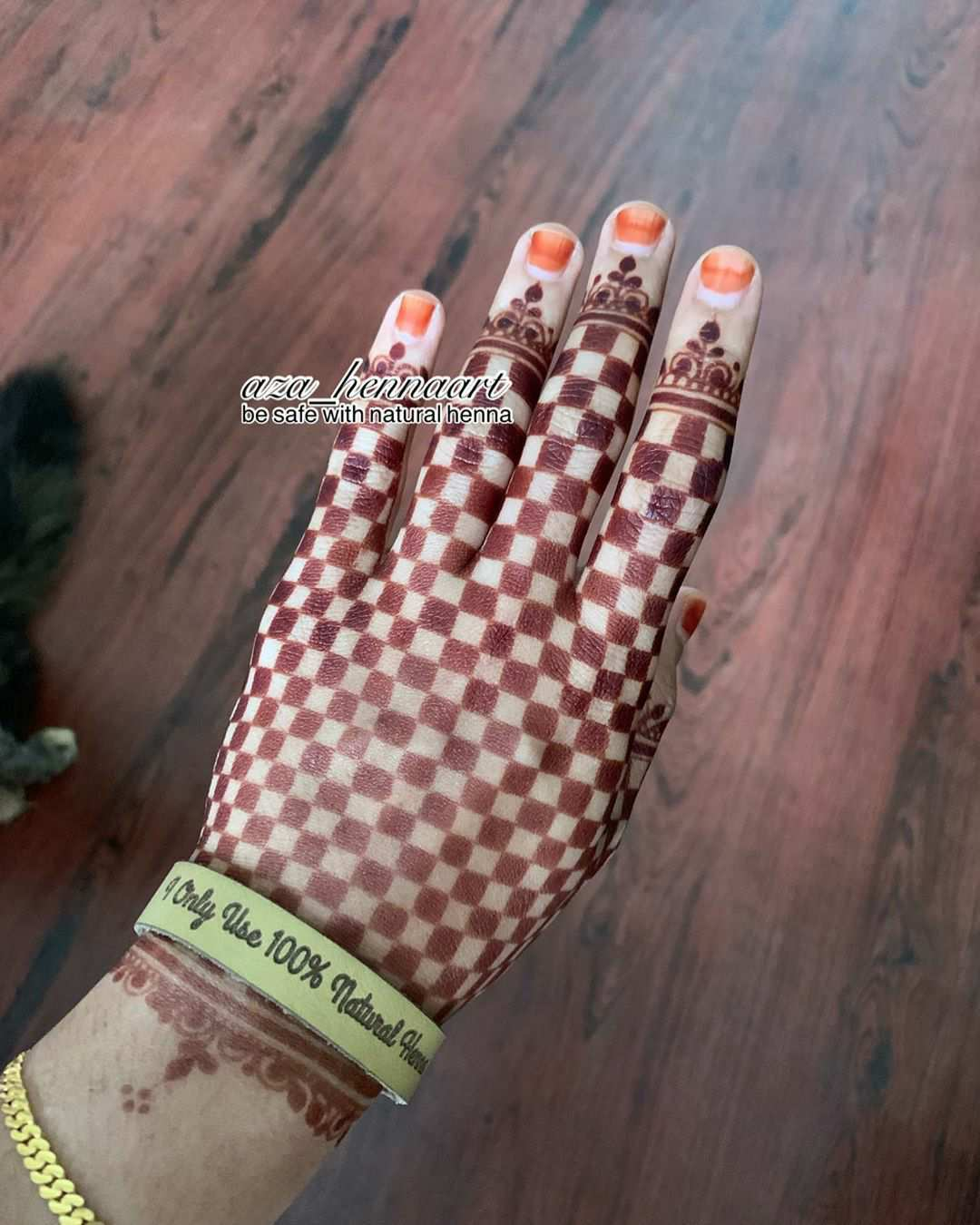 Checkerboard Mehndi Design