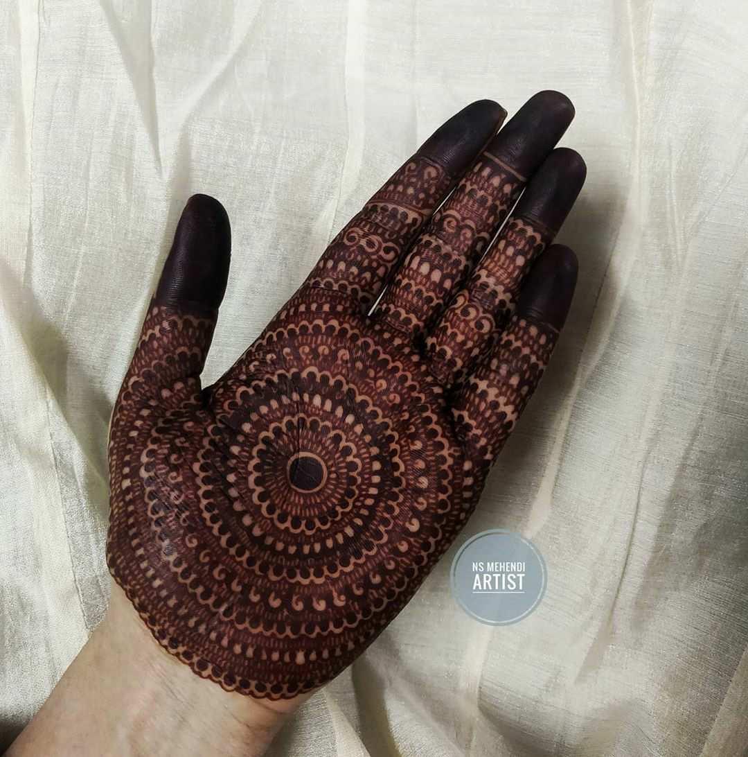 Whole Palm Mehndi Design
