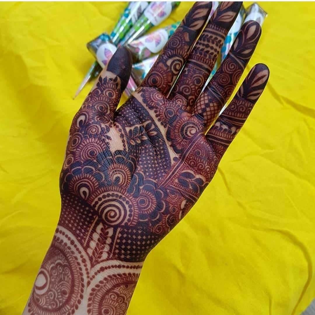 Mehndi By Hayat Palm Mehndi Design