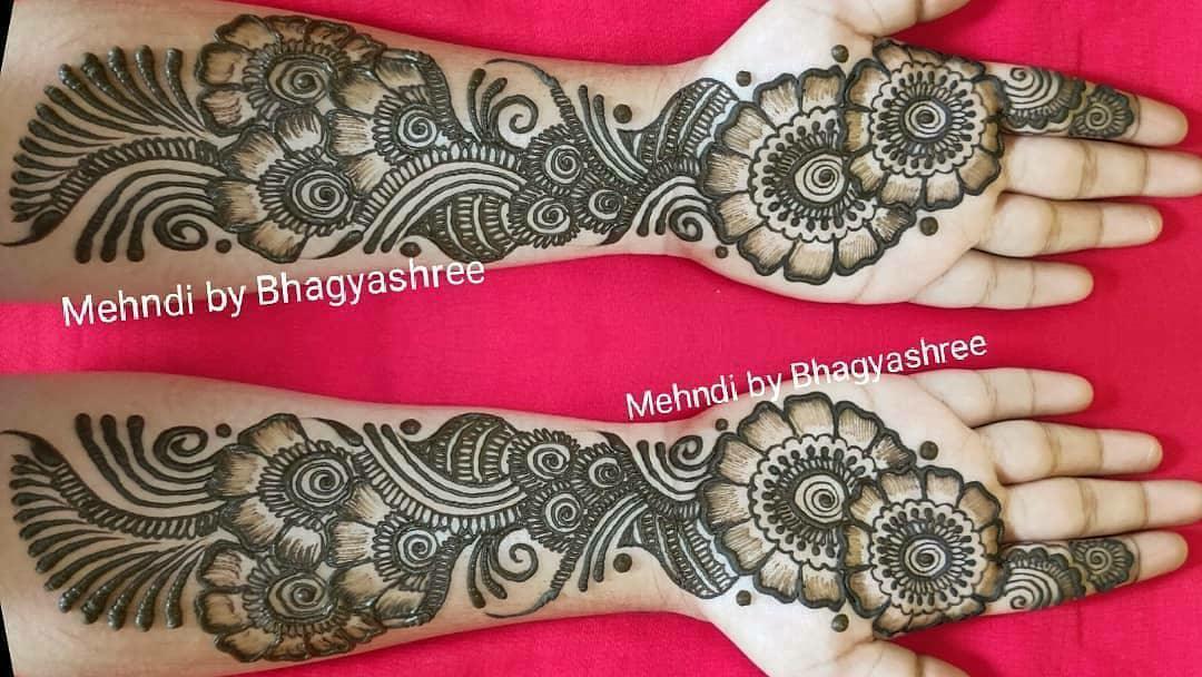 Full Hands Arabic Mehndi Designs