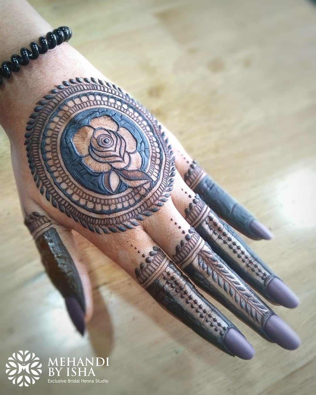 Rose Mandala Mehendi Design