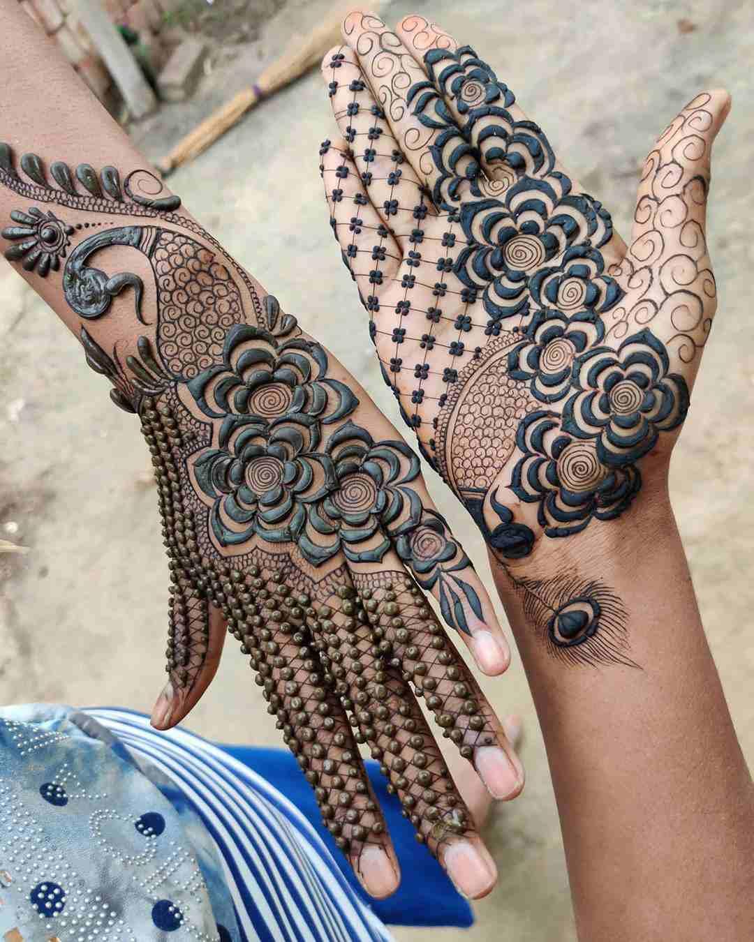 3D Mehndi Designs For Hartalika Teej