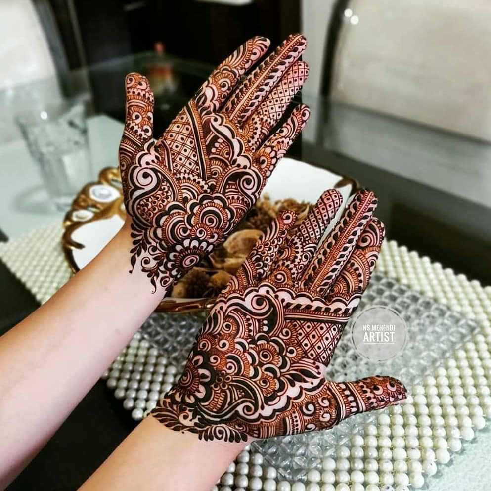 Hartalika Teej Mehndi Designs For Both Hands
