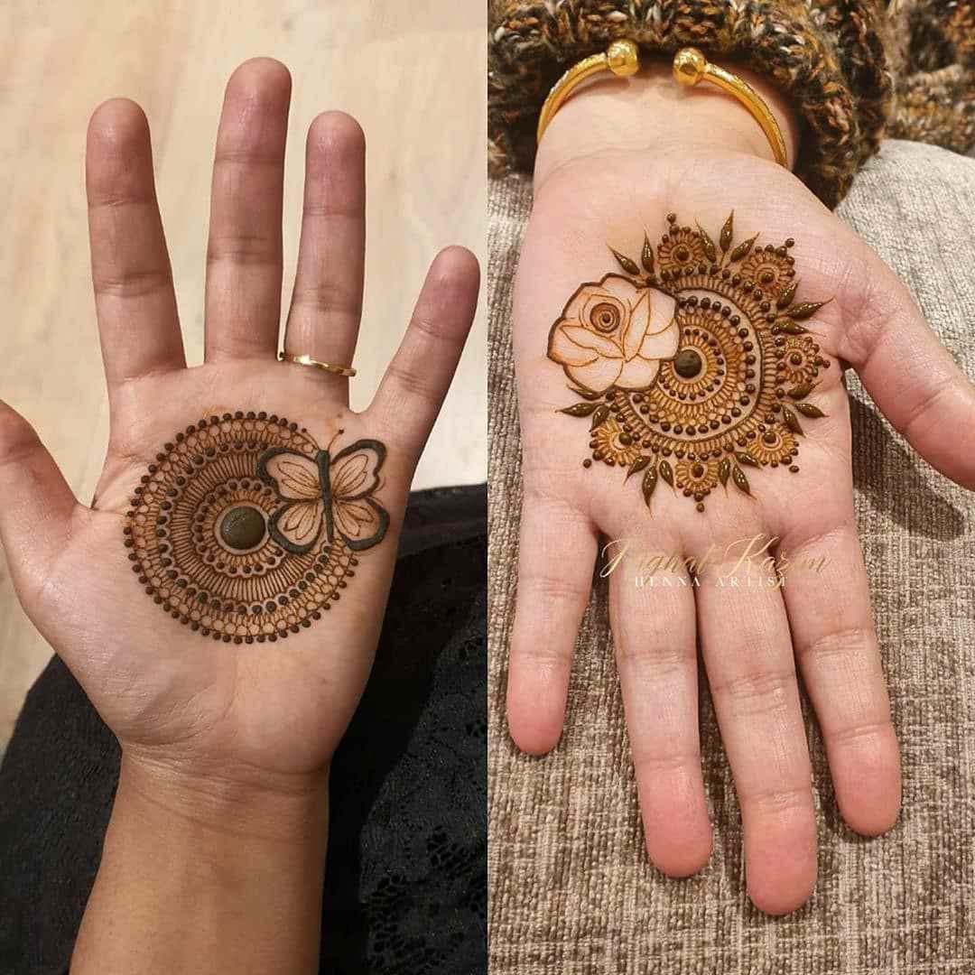 Mandala Mehndi Designs For Hartalika Teej
