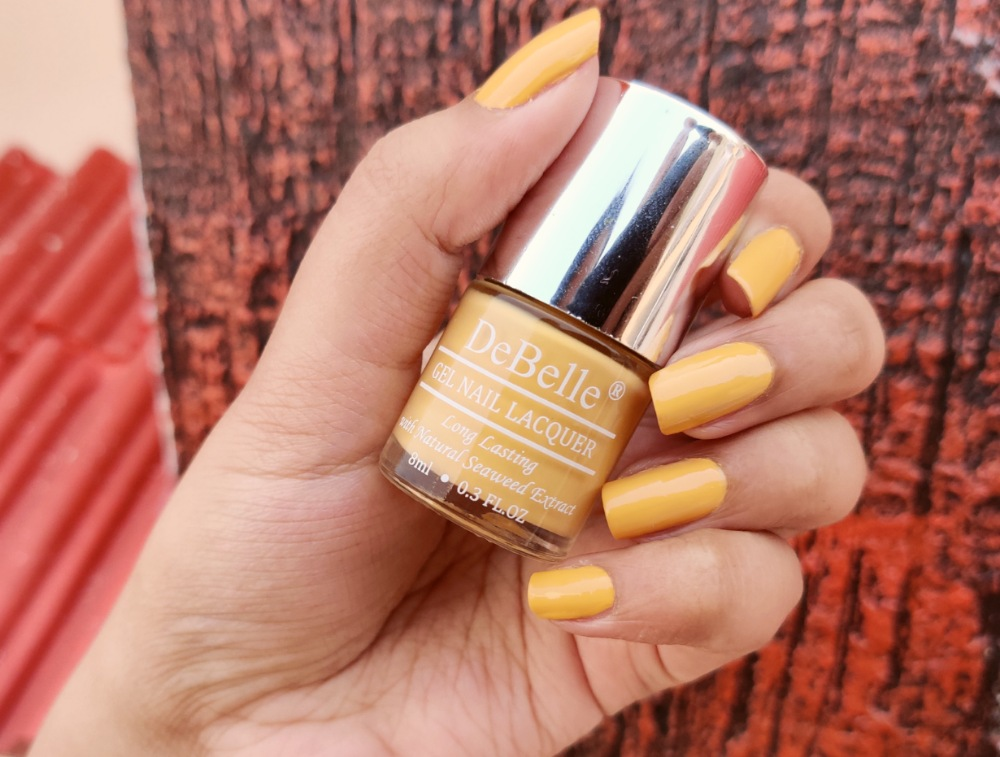 DeBelle Gel Nail Polish Review & Swatch - Yellow Topaz
